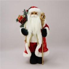 Кукла из полистоуна Дед Мороз с посохом