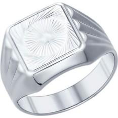 Мужская серебряная печатка Sokolov