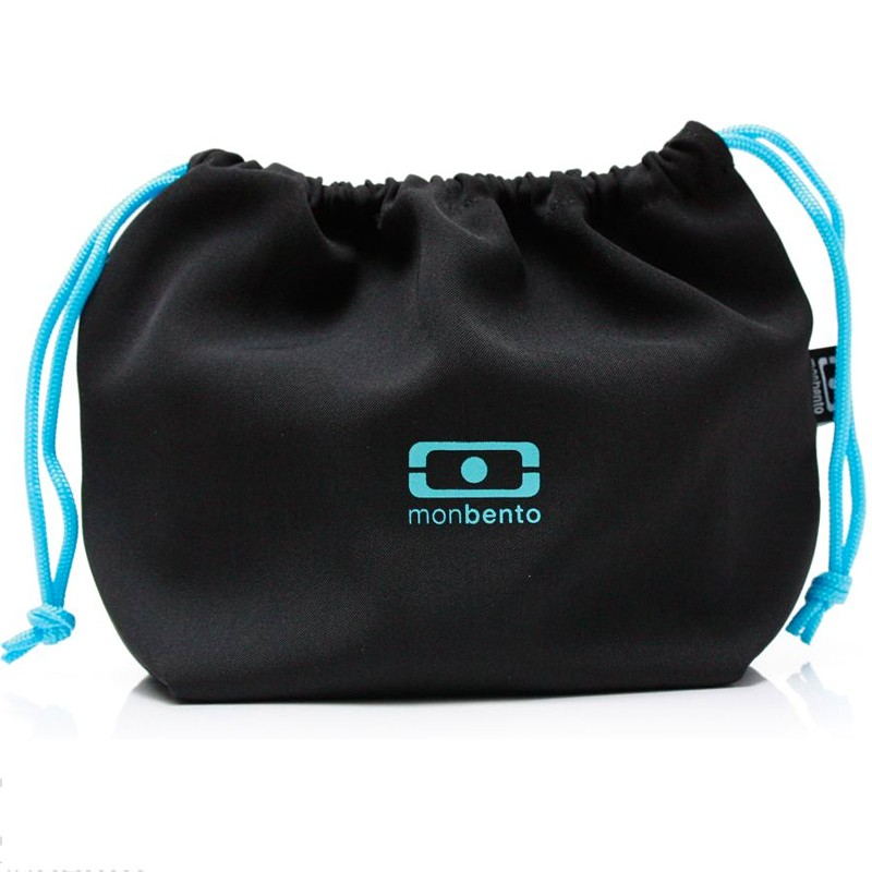 Черно-гголубой мешочек для ланча MB Pochette