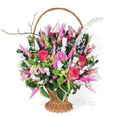 Букет из конфет Любимые цветы