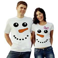 Парные футболки Снеговики