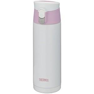 Белая с розовым термокружка JMX-500