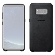 Чехол для Samsung Galaxy S8 Plus Alcantara Cover Dark Grey