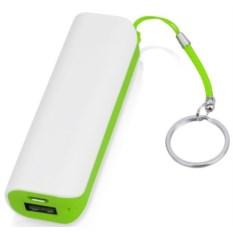 Зеленое портативное зарядное устройство Basis 2000 mAh