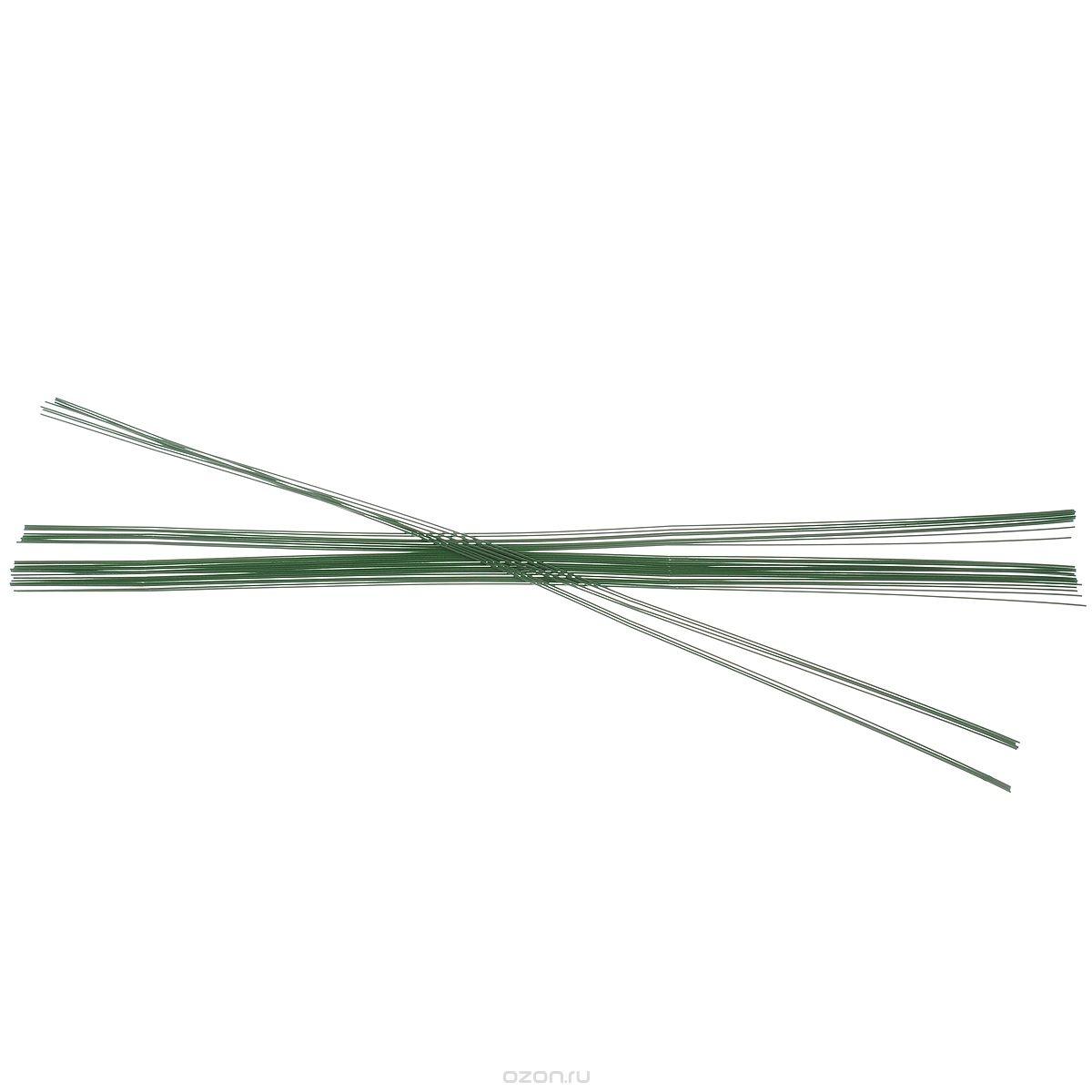 Проволока для флористики Glorex Hobby Time, зеленая, диаметр 0,6 мм, длина 30 см, 65 шт
