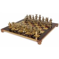 Красный шахматный набор Рыцари Средневековья
