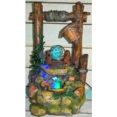 Напольный фонтан с подсветкой Колодец желаний