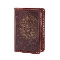 Обложка для паспорта из кожи с оплеткой по периметру