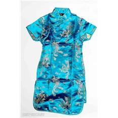Детское платье ципао, голубое