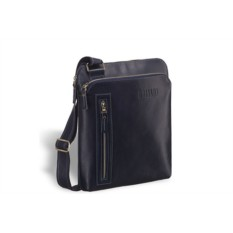 Кожаная сумка через плечо Brialdi Providence (цвет — синий)