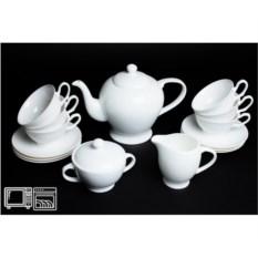 Фарфоровый чайный сервиз на 6 персон Недеколированный