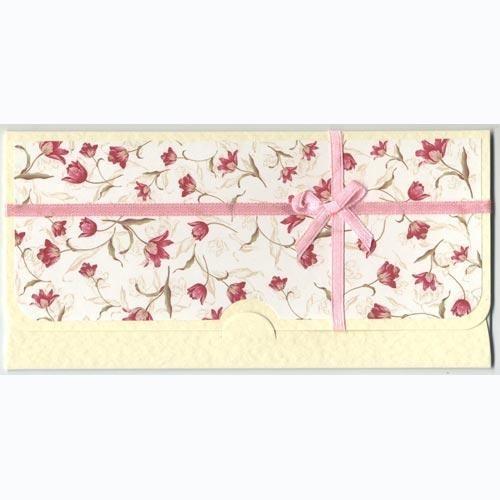 Конверт для денег Тюльпаны ручной работы