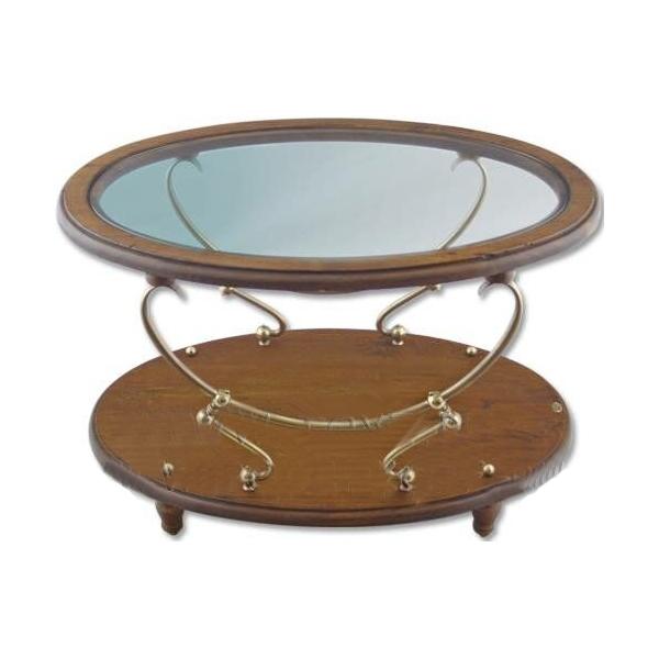 Овальный столик со стеклом