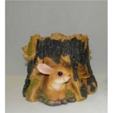 Садовая фигура-кашпо Пень с зайцем