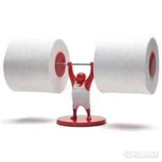 Держатель для туалетной бумаги Mr.t красного цвета