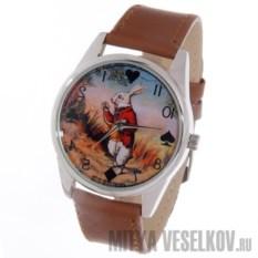 Часы Mitya Veselkov Кролик Алисы коричневого цвета