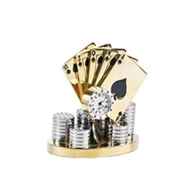 Часы «Лас-Вегас» с игральными картами и фишками