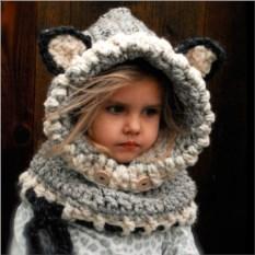 Детская шапка-шарф Волчонок