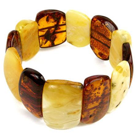Браслет «Плоский» из натурального лечебного янтаря