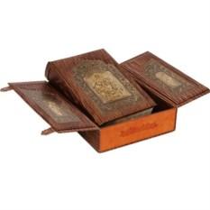Библия.(в коробе иконостас-складень гравюры)