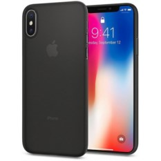 Чехол Spigen Air Skin для iPhone X Black