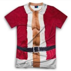 Мужская футболка 3D с полной запечаткой Костюм Деда Мороза