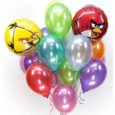 Букет шаров ANGRY BIRDS Party
