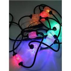 Разноцветная электрогирлянда Даймонд с черным проводом