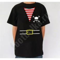 Черная детская футболка halloween Костюм пирата