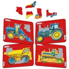 Пазл Larsen «Трактор и бульдозер»