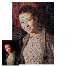 Портрет на холсте по фото в технике Мозаика