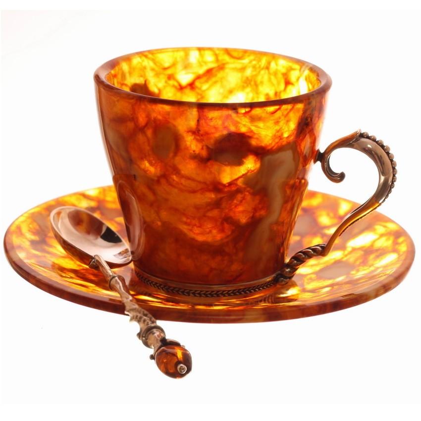 Кофейный набор из янтаря
