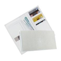 Белый кошелек из нежной кожи ската