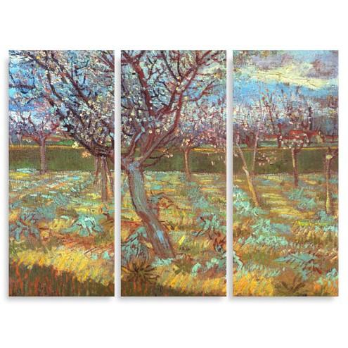 Модульная картина Ван Гог. Цветущие абрикосовые деревья
