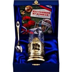 Набор для чая Слава защитникам Отечества! в футляре с DVD