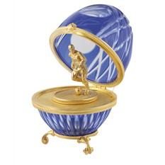 Яйцо хрустальное Футболист синее