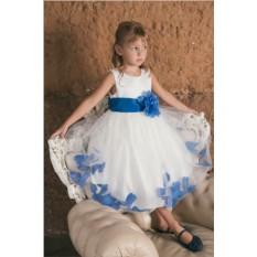 Нарядное платье на утренник Голубой цветок