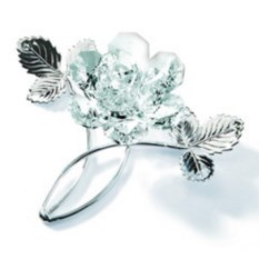 Серебряная роза с кристаллами Swarovski