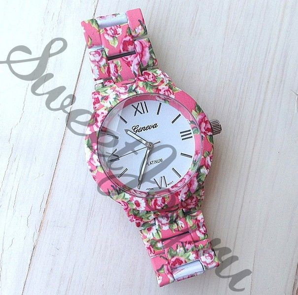 Часы Geneva Platinum Flowers