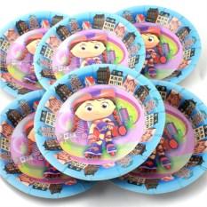 Набор из 6 тарелок Девочка на роликах