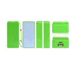 Зеленый внешний аккумулятор 5600 mAh POWER bank