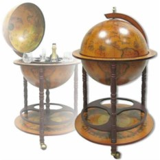 Деревянный мини-бар Глобус, диаметр 45 см