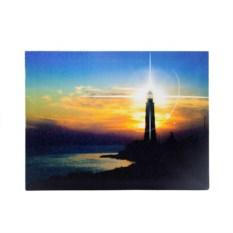 Картина с изображением маяка и LED подсветкой