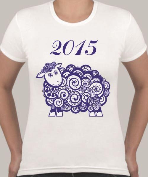 Женская футболка Кудрявая овечка