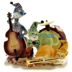 Статуэтка из фарфора Кошки музыканты