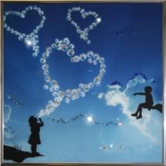Картина с кристаллами Swarovski Воздушный поцелуй