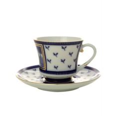 Фарфоровая чайная чашка с блюдцем Первый садовый мост