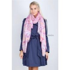 Розово-фиолетовый палантин с абстракцией Laura Milano
