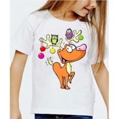 Детская футболка Олень с совами