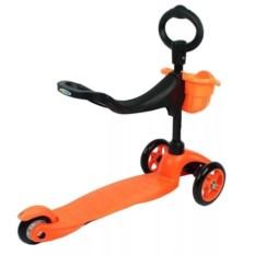 Оранжевый детский трехколесный самокат